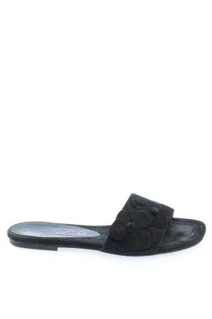 Unisa Sandalias de playa negro look casual