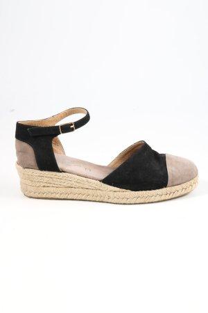 Unisa Riemchen-Sandaletten schwarz-wollweiß Casual-Look