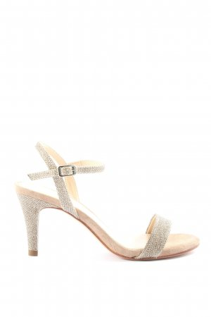 Unisa Strapped High-Heeled Sandals silver-colored casual look