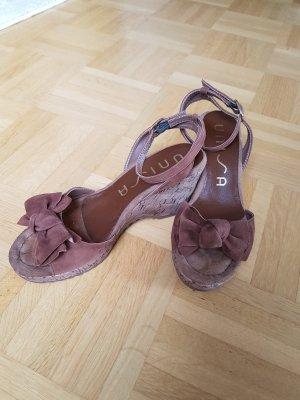 Unisa Sandales à talons hauts et plateforme brun