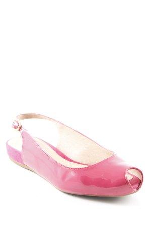 Unisa Slingback Ballerinas himbeerrot Casual-Look
