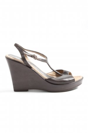 Unisa Slingback-Pumps braun Casual-Look
