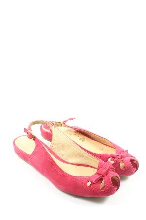 Unisa Escarpin à bride arrière rose style décontracté