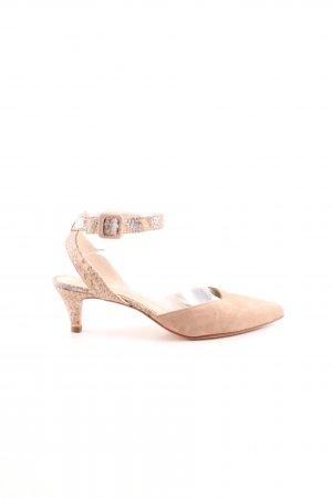 Unisa Slingback Pumps nude-silver-colored allover print elegant