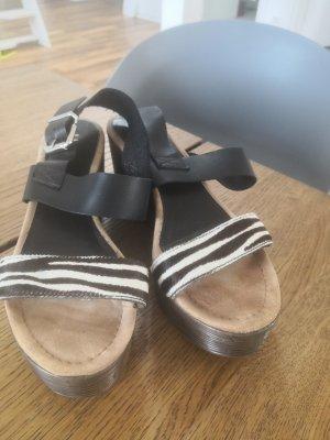 Unisa Sandales à talons hauts et plateforme noir-brun