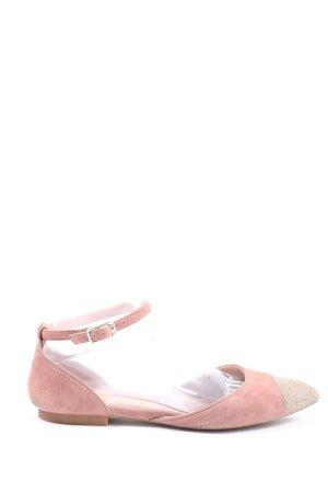 Unisa Baleriny z rzemykami różowy W stylu casual