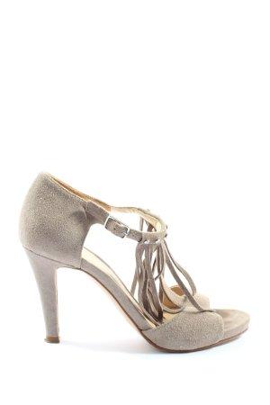 Unisa T-Strap Sandals natural white elegant