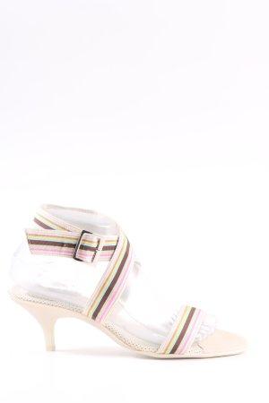 Unisa Sandalias de tacón con barra en T estampado a rayas look casual