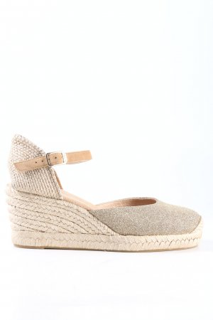 Unisa Wedge Sandals natural white casual look
