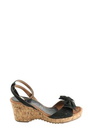 Unisa Wedges Sandaletten schwarz Casual-Look
