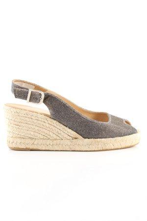 Unisa Wedges Sandaletten creme-silberfarben Casual-Look