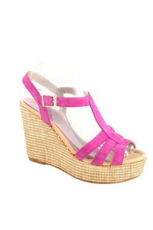 Unisa Wedge Sandals pink casual look