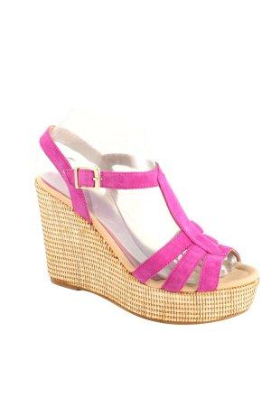 Unisa Wedges Sandaletten pink-creme Casual-Look