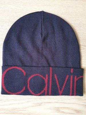 Calvin Klein Czapka z dzianiny ciemnoniebieski-bordo