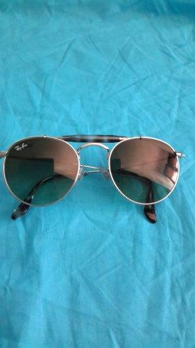 Ray Ban Kwadratowe okulary przeciwsłoneczne srebrny