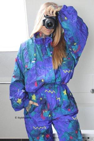 Vintage Pantalon de ski multicolore