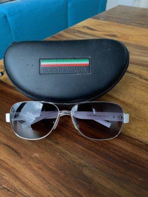 Dolce & Gabbana Occhiale da pilota bianco-grigio