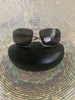 Prada Gafas de sol cuadradas color plata-marrón oscuro