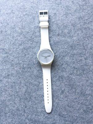 Swatch Montre analogue blanc-argenté