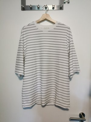 UGIZ Koszulka oversize biały-czarny Poliester