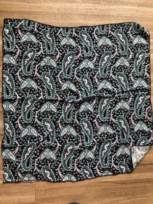 Poszetka czarny-jasnoniebieski