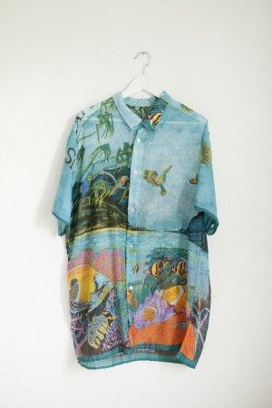 Vintage Chemise à manches courtes multicolore