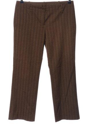 United Colors of Benetton Pantalone da abito marrone-bianco motivo a righe