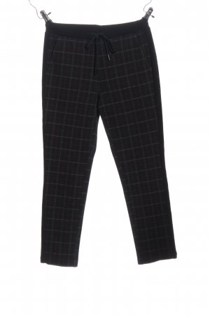 United Colors of Benetton Baggy broek zwart geruite print casual uitstraling