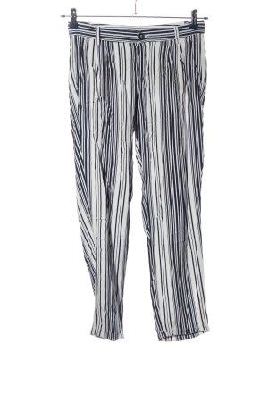 United Colors of Benetton Baggy Pants schwarz-weiß Streifenmuster Casual-Look