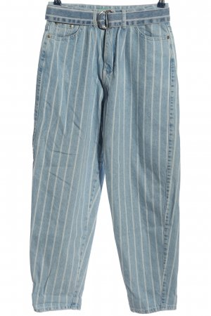 United Colors of Benetton Baggy Jeans blue-white striped pattern casual look