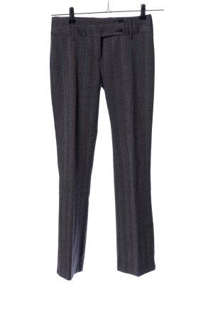 United Colors of Benetton Pantalon à pinces gris clair motif rayé