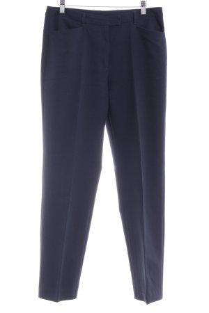 United Colors of Benetton Bundfaltenhose dunkelblau Business-Look