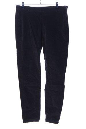 United Colors of Benetton Pantalon en velours côtelé noir style décontracté