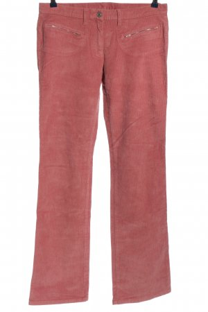 United Colors of Benetton Corduroy Trousers pink striped pattern casual look