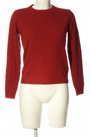 United Colors of Benetton Feinstrickpullover rot Casual-Look