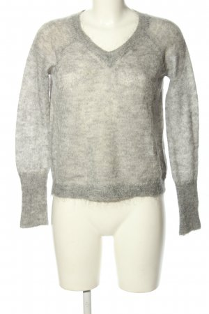United Colors of Benetton Feinstrickpullover hellgrau Casual-Look