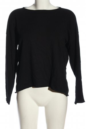 United Colors of Benetton Feinstrickpullover schwarz Casual-Look