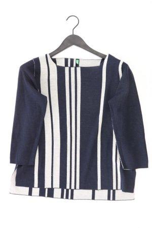 United Colors of Benetton Feinstrickpullover Größe L gestreift blau aus Baumwolle