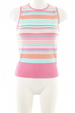 United Colors of Benetton Fine Knitted Cardigan striped pattern casual look