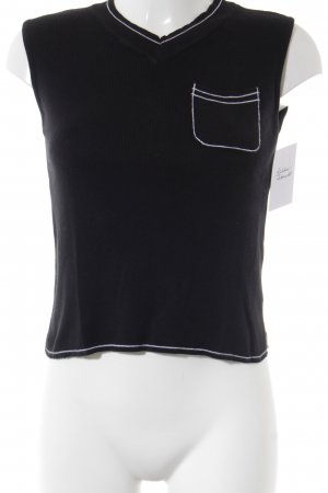 United Colors of Benetton Feinstrickpullunder schwarz klassischer Stil