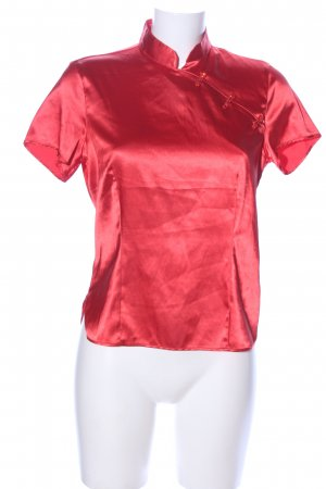 United Colors of Benetton Glanzbluse rot Elegant