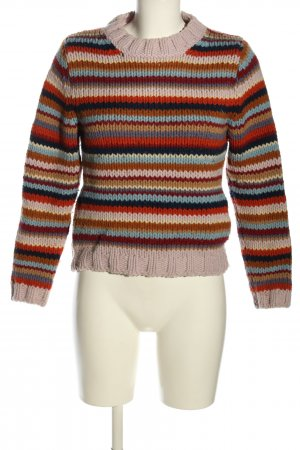 United Colors of Benetton Grobstrickpullover Streifenmuster Casual-Look