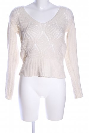 United Colors of Benetton Grobstrickpullover creme Zopfmuster Casual-Look