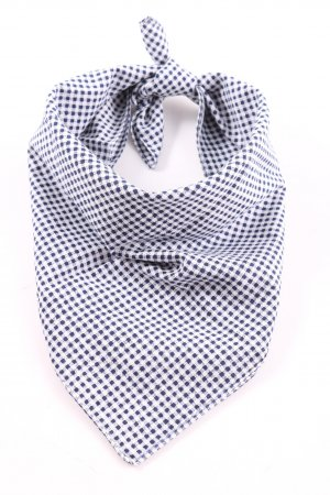 United Colors of Benetton Neckerchief blue-white check pattern casual look