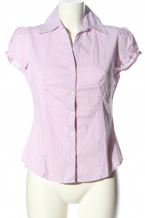 United Colors of Benetton Hemd-Bluse lila-weiß Streifenmuster Business-Look