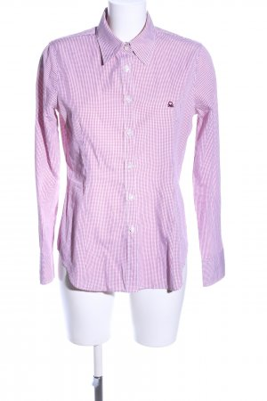 United Colors of Benetton Hemd-Bluse pink-weiß Allover-Druck Business-Look