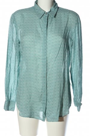 United Colors of Benetton Hemd-Bluse türkis-weiß Allover-Druck Casual-Look