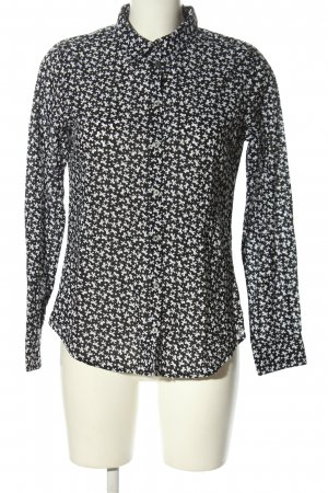 United Colors of Benetton Hemd-Bluse schwarz-weiß Allover-Druck Casual-Look
