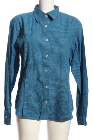 United Colors of Benetton Hemd-Bluse blau Karomuster Business-Look