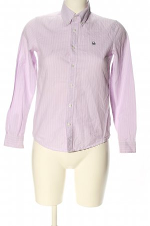 United Colors of Benetton Hemd-Bluse pink-weiß Streifenmuster Business-Look
